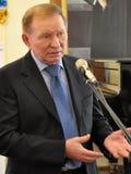 Leonid Kuchma in Chortkiv_3 Stock Foto