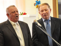 Leonid Kuchma in Chortkiv Stock Foto's
