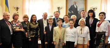 Leonid Kuchma in Chortkiv_6 Royalty-vrije Stock Afbeelding