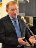 Leonid Kuchma dans Chortkiv_3 Photo stock