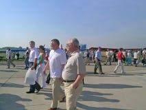 Leonid Yakubovich at MAKS airshow Stock Image