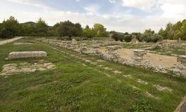 Leonidaion ancient construction at Olympia Stock Image