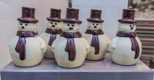 Leonidas Chocolate Snowmen Lizenzfreie Stockfotografie