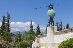 Leonidas staty Arkivfoton