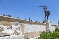 Leonidas staty Arkivbilder