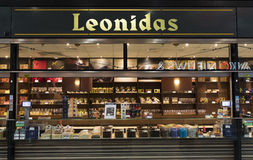 Leonidas store in Amsterdam Royalty Free Stock Photos