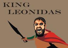 Leonidas Vector fotografia stock
