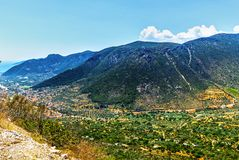 The Leonidio town in Peloponnese stock photos