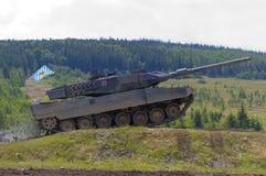 Leopard 2 tank. Leopard 2 german heavy tank fast drive Stock Photos