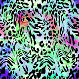 LEOPARD. Abstract  texture of print fabric  leopard for background Royalty Free Stock Photo