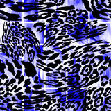 LEOPARD. Abstract  texture of print fabric  leopard for background Stock Photos