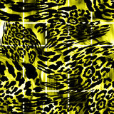 LEOPARD. Abstract  texture of print fabric  leopard for background Stock Photo