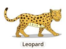 Leopard african savannah animal cartoon vector Royalty Free Stock Photography
