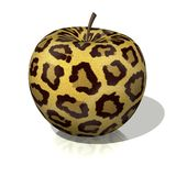 Leopard apple Royalty Free Stock Photos