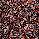 Leopard background. Texture of print fabric striped zebra and leopard for background Royalty Free Stock Photos