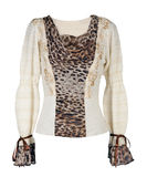 Leopard blouse Stock Image