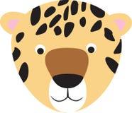 Leopard or cheetah cartoon face Royalty Free Stock Photography