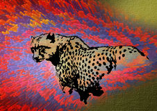 Leopard. Decorative illustration of leopard in abstract background Stock Image