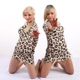 Leopard dress Stock Photos
