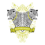 Leopard emblem Stock Photo
