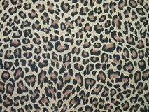 Leopard fabric. Texture suitable as background Stock Photos