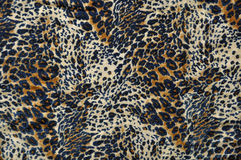 Leopard Fabric Blue, Tan & Cream Stock Image