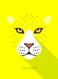 Leopard face flat icon simple design, vector illustration Royalty Free Stock Images