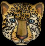 Leopard face illustration with clipping path. This is a leopard face illustration with clipping path. Isolated on black background Royalty Free Stock Image
