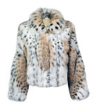 Leopard fur coat. Isolated on white Stock Photo
