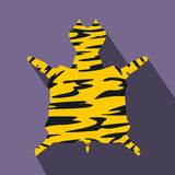 Leopard fur flat icon. On a violet background Stock Images