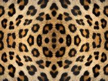 Leopard Fur Kaleidoscope Pattern Stock Image