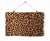 Leopard fur notice board Royalty Free Stock Photos