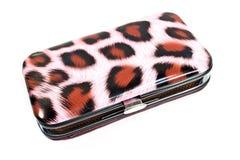 Leopard fur pattern box Royalty Free Stock Photo