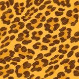 Leopard fur seamless scribble pattern. Leopard fur seamless scribble pattern - yellow and brown colors stock illustration
