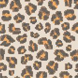 Leopard halftone seamless pattern Royalty Free Stock Photography