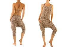 Leopard Harem Pants Stock Photography