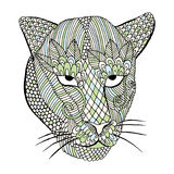 Leopard head with embroidery decoration Stock Image