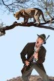 Leopard hunter Stock Image