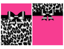 Leopard Invitation Sweet Sixteen Bow Stock Image