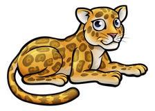 Leopard or Jaguar Cartoon Royalty Free Stock Photography