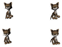 Leopard Kitties - Copy Space Royalty Free Stock Photos