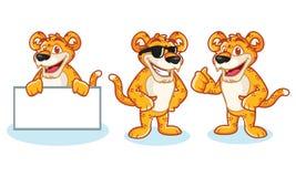 Leopard Mascot Vector happy Stock Photos