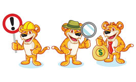 Leopard Mascot Vector with sign Royalty Free Stock Photos