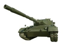 Leopard Military Tank On White Stock Image