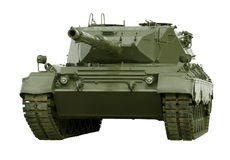 Leopard Military Tank on White stock images