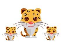 Leopard på en vit bakgrund royaltyfri illustrationer