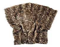 Leopard pattern blanket isolated on white. Artistically displayed with soft folds gathered at the bottom Royalty Free Stock Photography