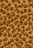 Leopard pattern brown vector background editable Royalty Free Stock Photography