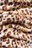 Leopard pattern. On fabric blanket Royalty Free Stock Photo