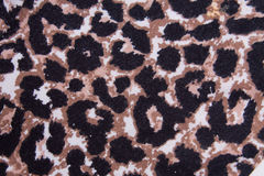 Leopard pattern fabric texture Royalty Free Stock Photos